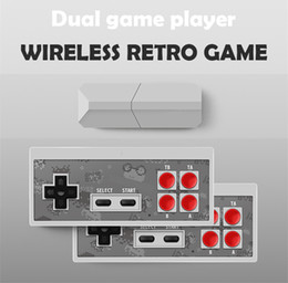 stick mini games NZ - Y2 Pro Game Stick Retro TV Video Game Console Mini Game Console 8 Bit Built 500-in Classic Games AV Output Dual Wireless Gamepads