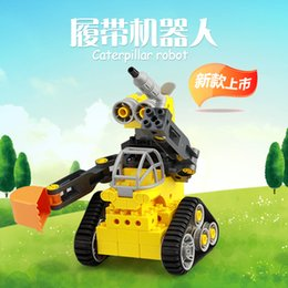 Discount educational blocks robots Wangg block granule robot block assembly boys and girls more than three years old children's educational toys plastic
