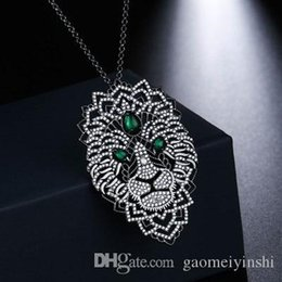 plates jewelry manufacturer UK - GAOMEIYIBSHI 925 Sterling Silver High Quality APM Jewelry Lion Necklace Plated In Black And Gold For Friends Free Mail Manufacturers