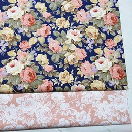 cushion printing NZ - half meter rose flower print 100% cotton twill fabric for bedding baby's garment skirt handmade CR-2