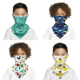 cute cartoon face masks Australia - DHL Shipping Kids Bandana Protection Mask Cute Cartoon Neck Gaiter Boys Girls Scarf Non-Slip Breathable Face Cover for Sun Cycling X390FZ