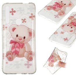 draw tpu case UK - Coloured Drawing Transparent Clear TPU Case for Huawei P Smart Z