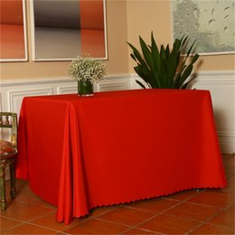 print tablecloths wholesale Australia - Popular Conference Tablecloth Customize Tablecloths Custom Printing Pure Color Rectangle Circular Table Skirt Easy To Use 6 5dx dd