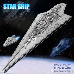 Vente en gros 05028 jouets Star Wars Compatible avec Legoing MOC-15881 Exécuteur Star Class Dreadnought Destroyer Stellaire Building Blocks Enfants Cadeaux 66