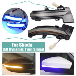 octavia lights NZ - Fit For Skoda Octavia Mk3 5E 2013 2014 2015 2016 2017 2018 2019 LED Dynamic Turn Signal Light Flowing Water Blinker Flashing Light