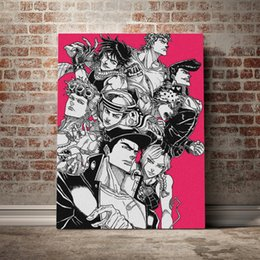 anime picture UK - HD Print Modular Jojo S Bizarre Picture Canvas Painting Japan Anime Poster Home Decor Nordic Wall Art For Living Room Framework