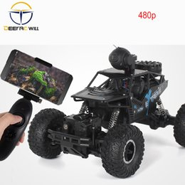 buggy rc car nitro UK - 1:16 4WD RC Car Updated Version HD Camera 2.4G Radio Control RC Car Toys Buggy 2020 High speed Trucks Off-Road Trucks Toys