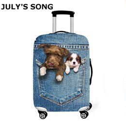 Wholesale animals song for sale – custom JULY S SONG Luggage Cover Suitcase Animal Prints Protector Suit Suitcase Dog Cat Trolley Case Travel Accessories T200710