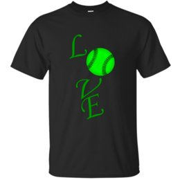 men s baseball shirts NZ - O Neck Basic Love Baseball 3d Green A Tshirt For Men 2020 Outfit Solid Color Tee Shirt Euro Size S-5xl Tee Tops Graphic
