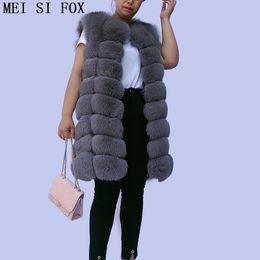 Wholesale ship real fur jackets for sale - Group buy coat female autumn natural fur vest Mid length sleeveless fur jacket vest real gilet real top