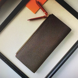 Wholesale adele resale online - M61269 ADELE Wallet Fashion Women Long Dual Zippy Wallet Trendy Zipper Evening Clutch Coin Credit Card Holder Purse Canvas Inside Leather