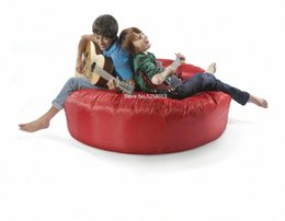 eco bean bag UK - red colors 2 seats BIG HUG HUDDLE ECO FRIENDLY INDOOR OUTDOOR ROUND BEAN BAG MANY COLOURS SKch#
