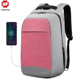 tiger computers Australia - Tiger slave season new men's computer and women's backpack backpack 15.6-inch charger computer bag travel School school bag