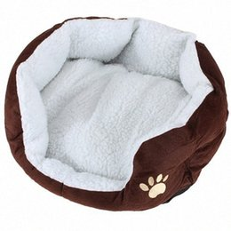 housing Australia - Cart Basket Niche removable cushion House Bed For Dog Cat Pet Size S 46*42*15cm COFFE qtfj#