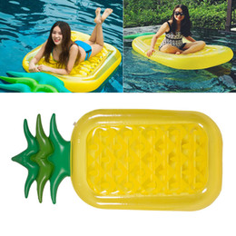 swim floats for adults NZ - New Inflatable Pineapple Pools Float Raft Large Outdoor Swimming Pools Inflatable Float Toy Lounge Toy for Adults And Kids 180*90cm WX9-594