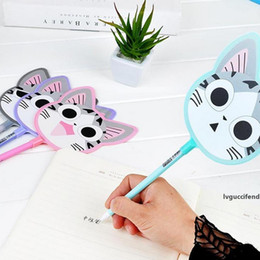 cool stationery wholesale Canada - New 29cm Cute 2 in i Stationery animal Fan pens keep cool this summer Novelty Gift Children s Day gifts