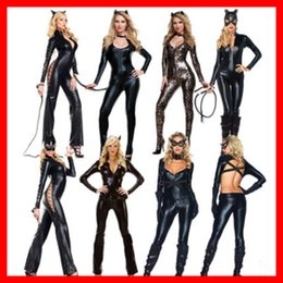 wild woman costume NZ - Halloween Sexy Wild wear one-piece girl cosplay Black Girl clothing cat women's clothin clothing cat women's clothingparty costume