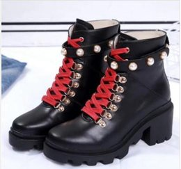 genuine leather biker boots women NZ - New arrival new season fall winter Women black Mixed Color patchwork real Leather lace up short biker Military Fashion Ankle boots mk02