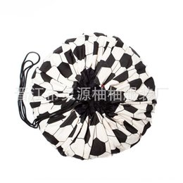 anchor bags zipper NZ - INS style football anchor flaming bird large toy storage bag sack can be used as carpet hanging badminton wool ball badminton bag