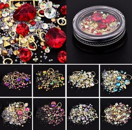 magic crystals NZ - Woman 3D DIY Nail Art Decorations Beauty Magic Crystal Rhinestone Gem Stone Geometry Cross Design Jewelry Accessory Nail Charms Tool 4cm Box