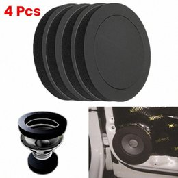 car bass sound UK - 4PCS 6.5 Inch Car Universal Speaker Insulation Ring Soundproof Cotton Pad Bass Door Trim Sound Audio Speakers Self Adhesive LqCx#