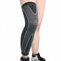 elastic knee sleeve support UK - Elastic Knee Protector Anti-Slip lengthen Knee Pad Long Leg Sleeve Bandage Compression Brace Sports Warmth Leg Support LtWn#