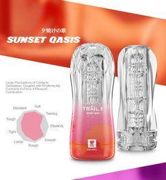 hot Realistic Vagina For Male Masturbator Silicone Masturbation Cup Penis Enlarge Massager Pocket Pussy Male Enhance Massager on Sale