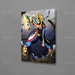 anime picture UK - HD Prints Home Decor Character Painting Poster My Hero Academia Wall Art Anime Scene Canvas Modular Frame Pictures For Bedroom