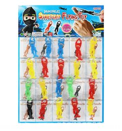 wholesale ninja toys UK - Children's finger s soft material doll Toy toy animal sticky Ninja doll catapult launcher pupil hanging board toys