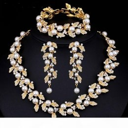 pearl sets Australia - U Luxury Designer Jewelry Sets Wedding Jewelry Sets For Women Pearl Bridal Jewelry Sets Silver Gold -Color Necklace Set Wedding
