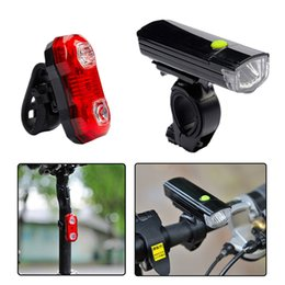 odometer bike Australia - New Portable Bicycle Light USB LED Rechargeable Set Bike Lamp COB LED Front Headlight Digital Cycling Odometer Bike Equipment