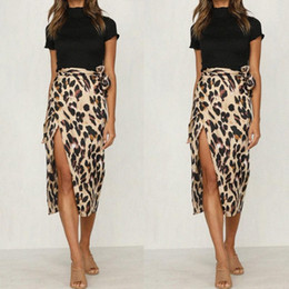 wholesale leopard skirts Australia - 2020 2020 New Fashionable Women Summer Leopard Print Skirt Ladies Sexy And Charming High Waist Polyester Skirt qLvQ#