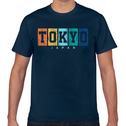 Toptan satış Tops T Shirt Men tokyo japan country souvenir Vogue Vintage Geek Custom Male Tshirt XXX