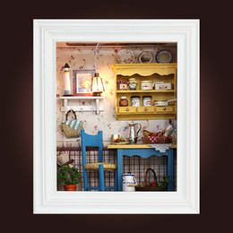 model house kit diy UK - Diy Miniatura Mini Miniature Dollhouse Furniture Doll House Handmade Craft Puzzle Model Kits Toys Gift For Children Adult Y200414