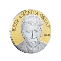 folk art wood UK - Donald Trump 2020 Election Commemorative Coins Keep America Great 45th USA President Metal Badge DHB153