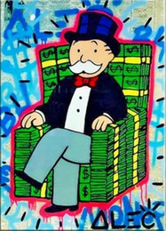 one chairs Australia - Alec Monopoly Urban wall art Money Chair Home Decor Handpainted &HD Print Oil Painting On Canvas Wall Art Canvas Pictures 1270