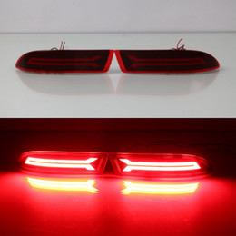 July King Car LED Light Guide Brake Lights + Night Running Light case for Toyota Avanza 2016-2019, LED Rear Bumper Warning Lights, B type on Sale