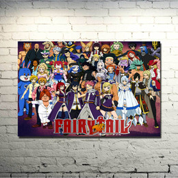 fairy tail prints Australia - Fairy Tail Anime Art Silk Fabric Poster 13x20 20x30 Inch Erza Scarlet Natsu Huge Print Pictures For Living Room Decor 031