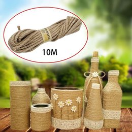 twisted rope cord UK - 10M Rope Twisted Burlap Jute String Cord Craft 5mm Natural Durable
