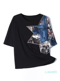 western fashion shirts UK - Europe station short-sleeved t-shirt female loose 2020 new wild Western style printing short-sleeve T-shirt cotton fashion small shirt t03