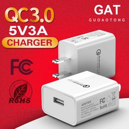 tablet 3a NZ - 18W Quick Charge QC 3.0 USB Charger 5V 3A Fast USB Wall Charging Travel Power Adapter For iphone Samsung Huawei Tablet PC