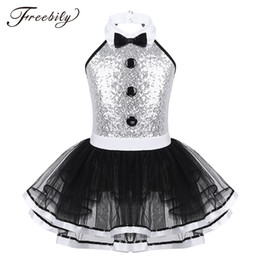 leotard sequins NZ - Kids Girls Sleeveless Shiny Sequins Ballet Dance Gymnastics Leotard Mesh Tutu Dress Modern Dance Costume Ballerina Dancewear