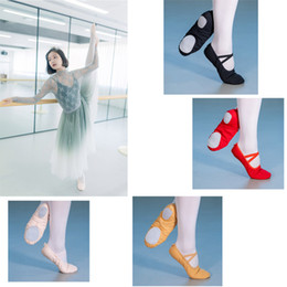 child ballet shoes Australia - Ballet Dance Silk Dancing Shoes Pointe With Ribbon For Children Kids Girls Women Soft Flats Shoes Comfortable Fitness Slippers