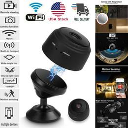 2020 Nuevo Mini Wireless Outdoor Sports DV Wifi Cámara IP Home Security DVR Night Vision HD 1080P Cámara aérea de la cámara de gran angular Visión en vivo en venta