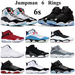 cyber shoes Australia - Men Women Basketball Shoes Jumpman 6s rings Sneakers space jam concord gym red confetti athletic shoes White Light Blue Fury Cyber Trainers