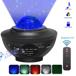 2020 LED Laser Stars Light Projector Night Light USB Bluetooth Speaker Music Player Remote Decor for Party Wedding on Sale