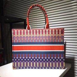 Clásica grande de las mujeres XXL flores coloridas bolsos multicolor de la playa bolsas de hombro bolsos de compras del monedero del bolso de las señoras de Capacidad de asas en venta