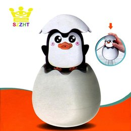 baby bath shower spray UK - Baby Shower Bath Toys Sprinkling Egg Floating Duck Penguin Spraying Water Toys for Children Early Educational Bathtub Bathroom