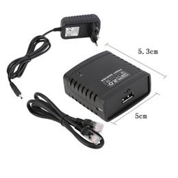 Venta al por mayor de LRP servidor de impresión USB Compartir un adaptador de impresora de red LAN Ethernet Hub USB 2.0