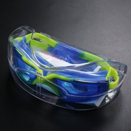 Wholesale Factory Spot Waterproof Anti-Fog HD Swimming Goggles Men and Women Large Frame Electroplated Myopia Swimming Goggles Plain Swimming Goggles